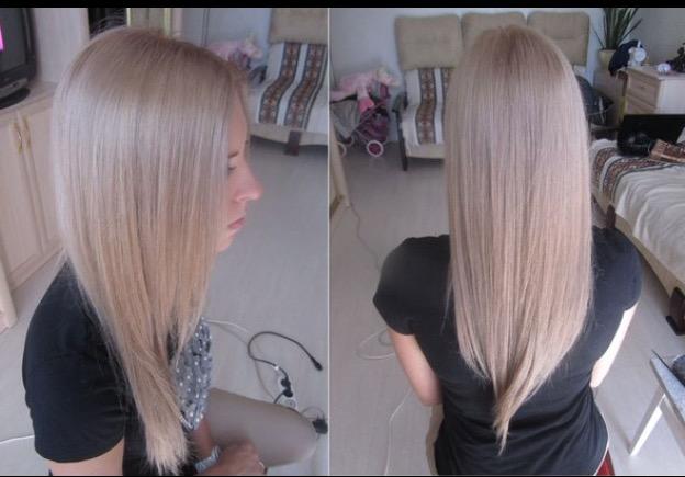 Холодный оттенок на светлых волосах
