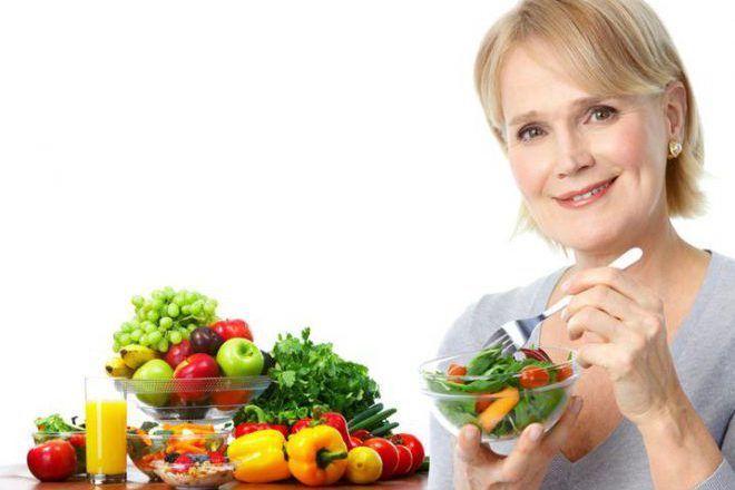 Фруктово-овощная диета при приливах климакса