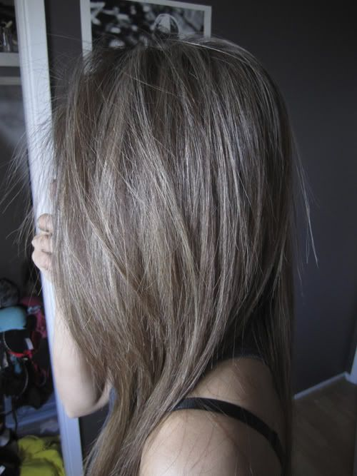Холодные оттенки на темных волосах