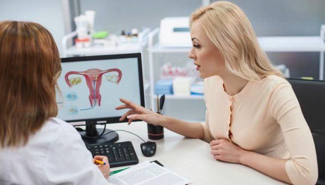 Женщина решается посетить гинеколога