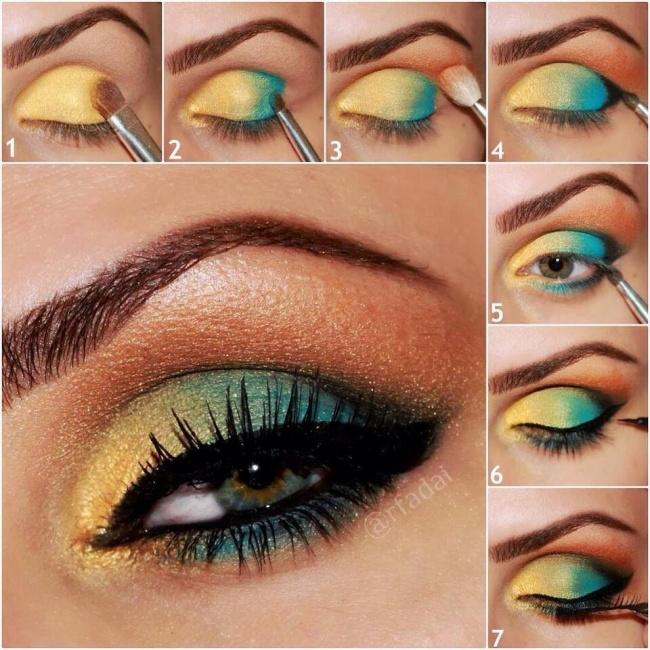 Красивый мейкап для зеленых глаз пошагово фото