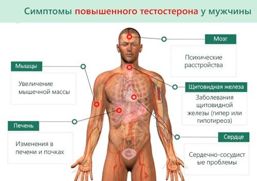 Симптоміы повышенного тестостерона