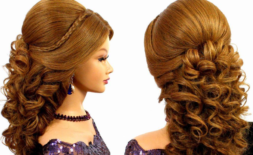 прически на длинные волосы на новый год