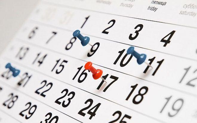 Дни с 8 по 24 число каждого месяца
