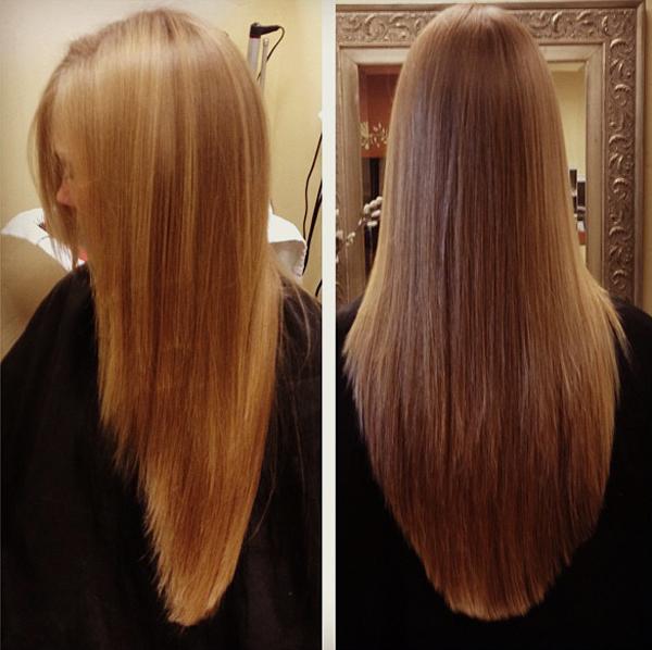 Лесенка на длинные волосы