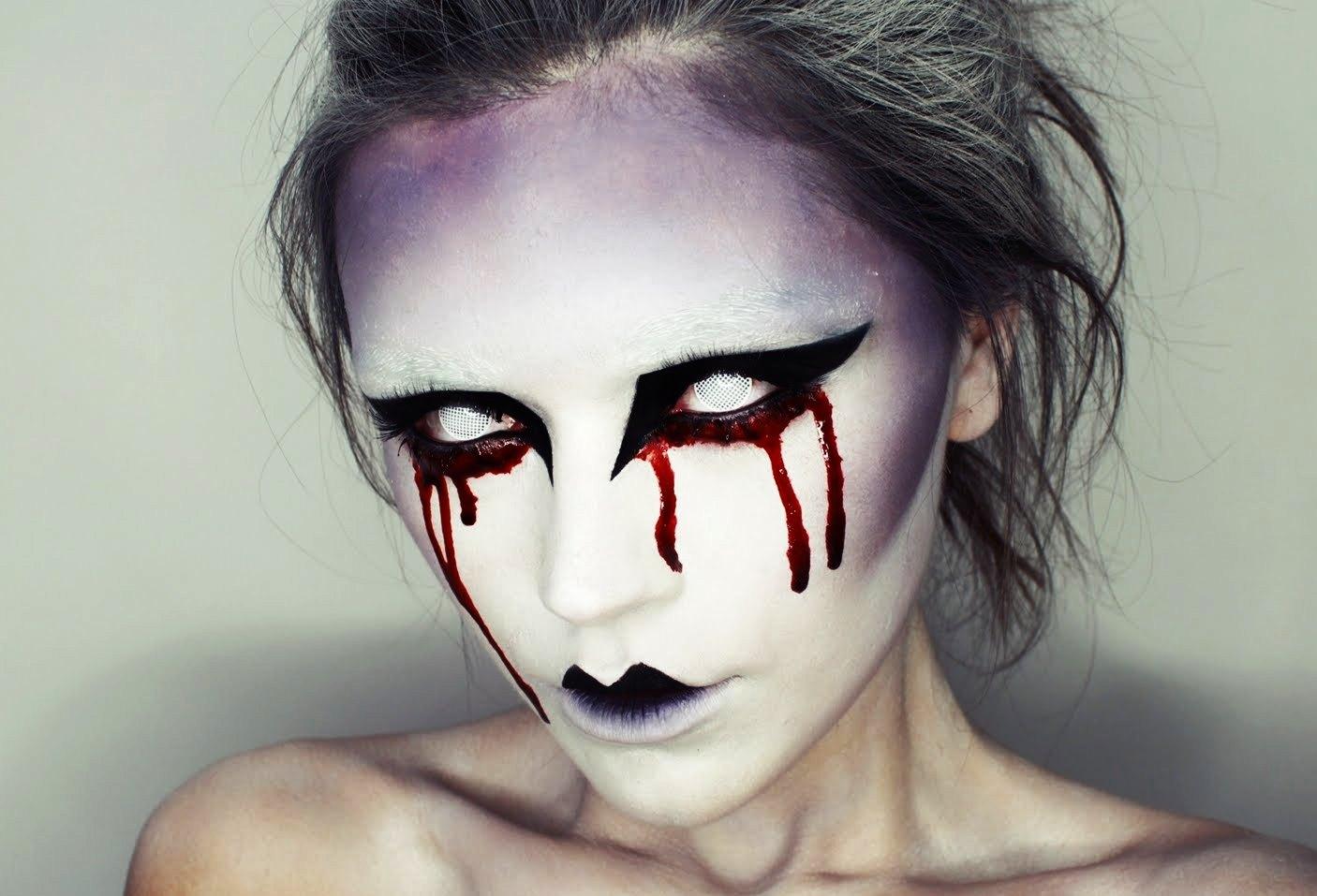 Страшный макияж на хэллоуин картинки