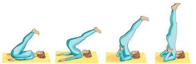 Гимнастическое упражнение березка
