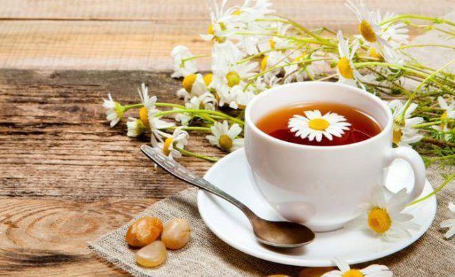 Чай с добавлением ромашки