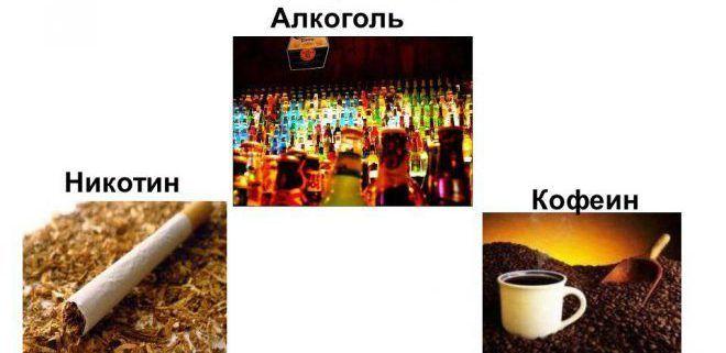 Алкоголь и кофеин