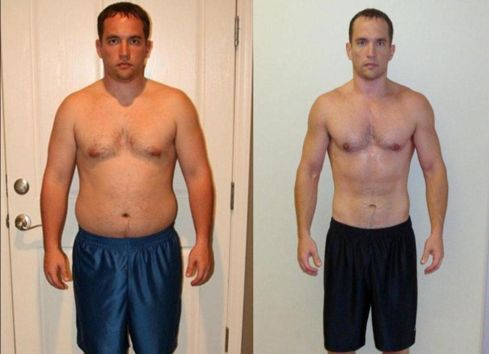 Примеры похудения с фото мужчины