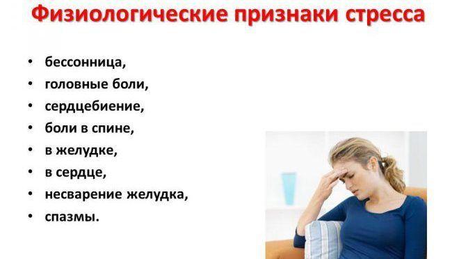 Физиологические признаки стресса