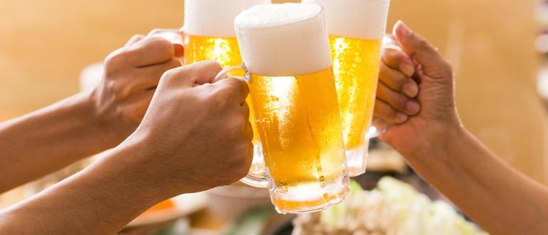 Болит голова после пива