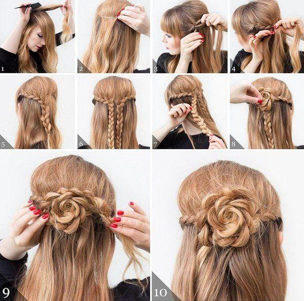Цветочек из волос